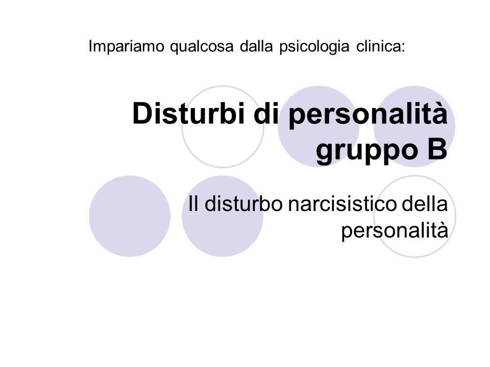 Disturbi di personalità gruppo B