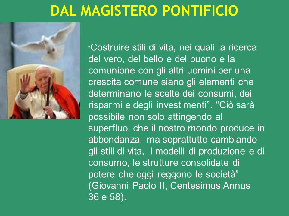 DAL MAGISTERO PONTIFICIO