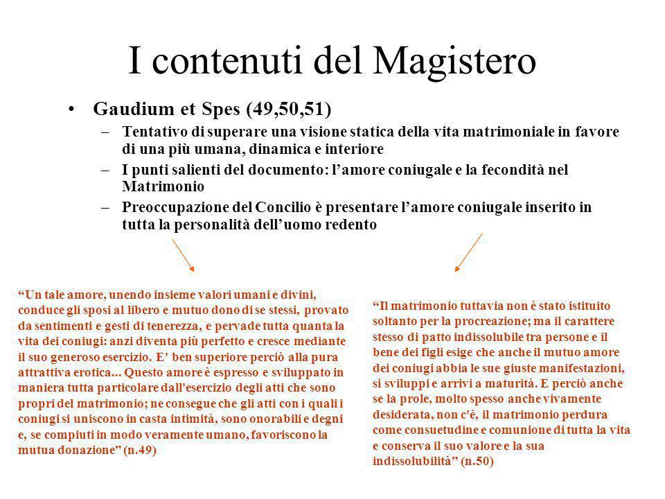 I contenuti del Magistero