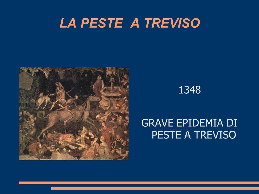 GRAVE EPIDEMIA DI PESTE A TREVISO