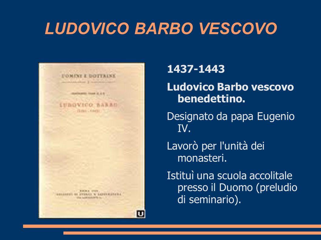 LUDOVICO BARBO VESCOVO
