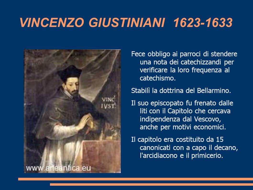 VINCENZO GIUSTINIANI 1623-1633