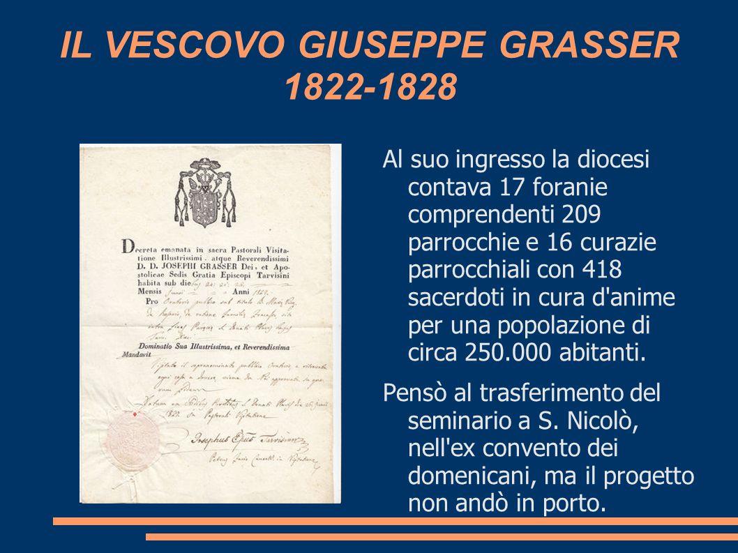 IL VESCOVO GIUSEPPE GRASSER 1822-1828