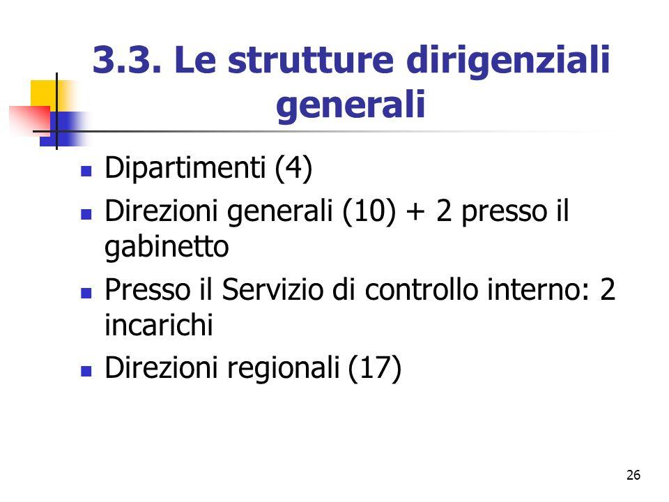 3.3. Le strutture dirigenziali generali