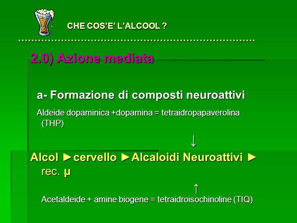 CHE COS'E' L'ALCOOL ………………………………………………………………
