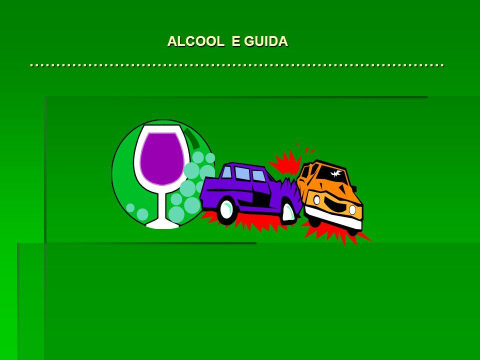 ALCOOL E GUIDA ……………………………………………………………………