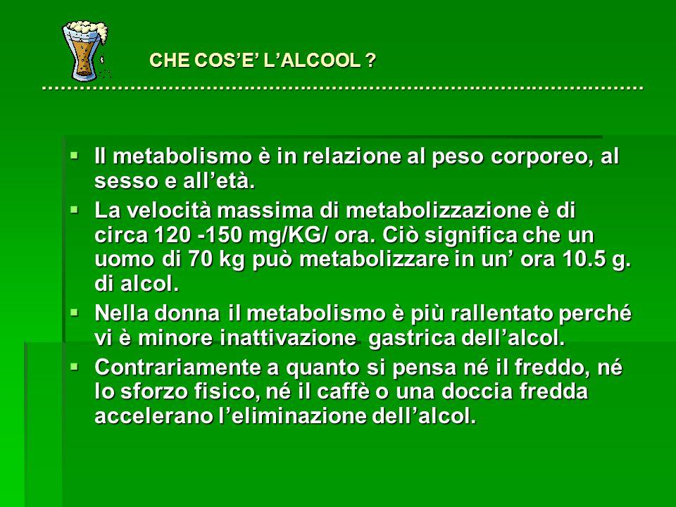 CHE COS'E' L'ALCOOL ……………………………………………………………………………………