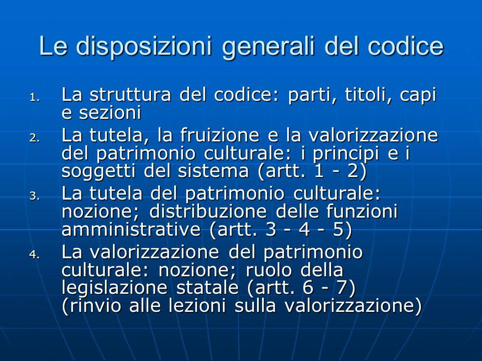 Le disposizioni generali del codice