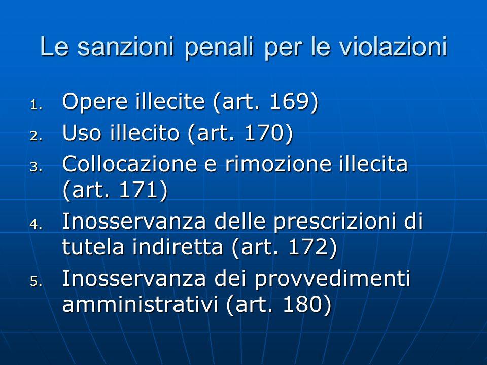 Le sanzioni penali per le violazioni