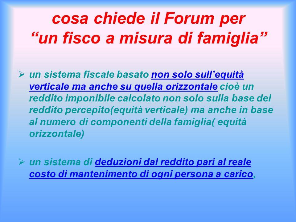 cosa chiede il Forum per un fisco a misura di famiglia