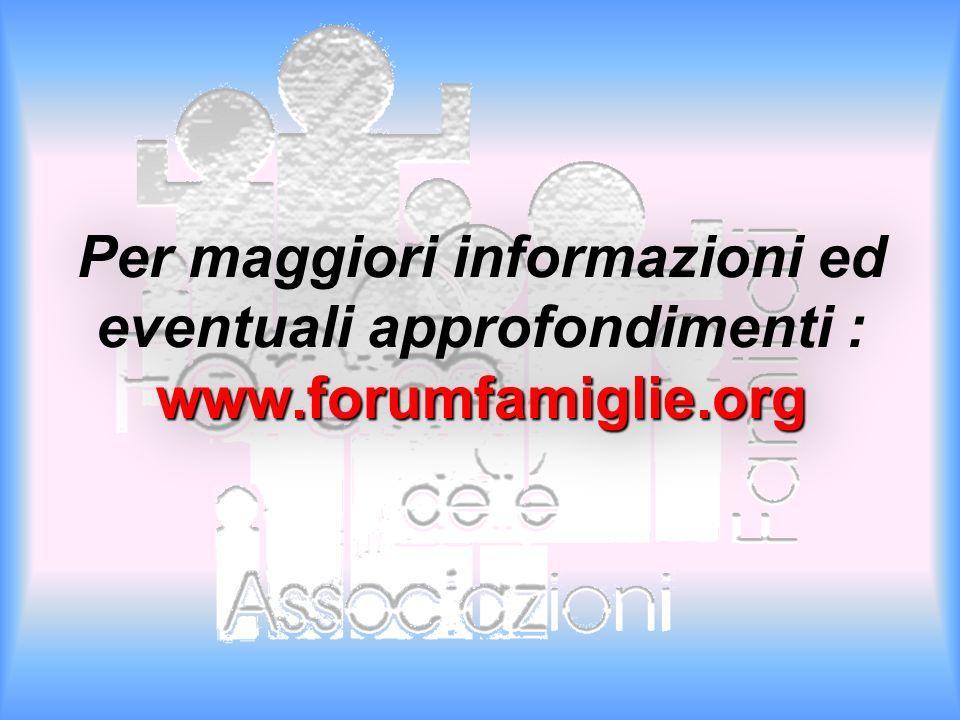 Per maggiori informazioni ed eventuali approfondimenti : www