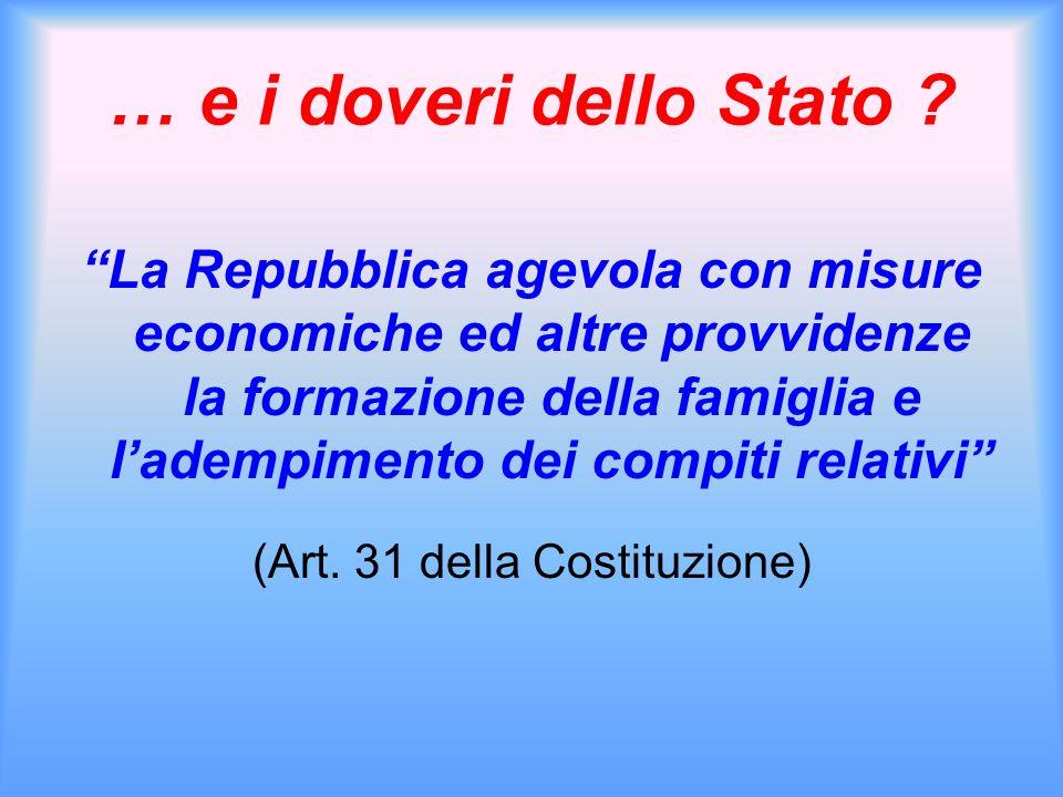 (Art. 31 della Costituzione)