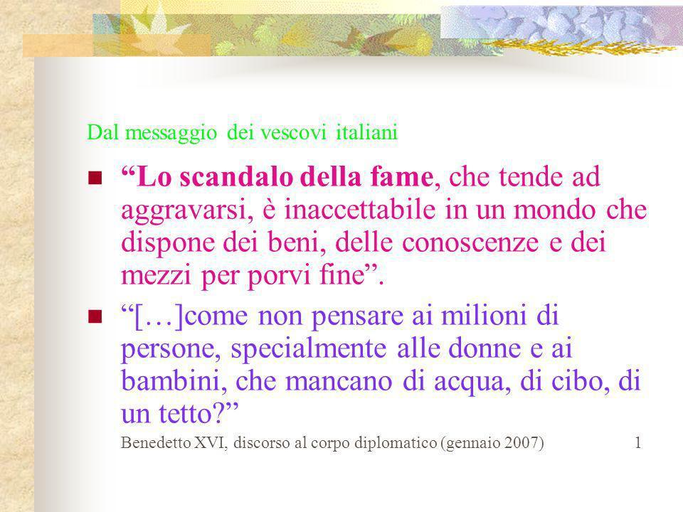Dal messaggio dei vescovi italiani