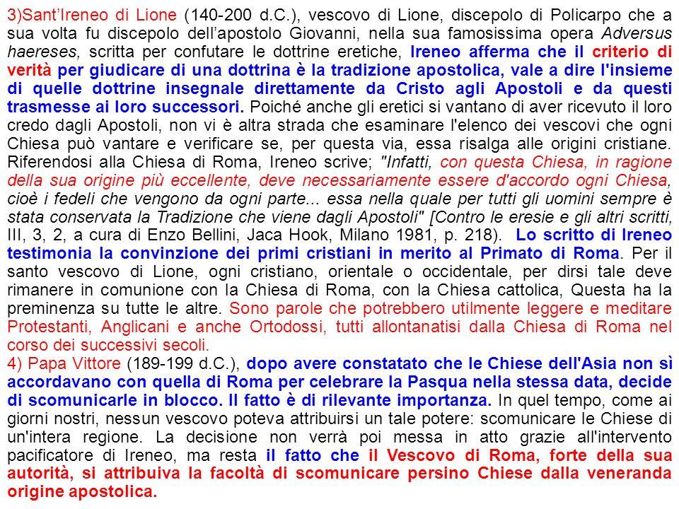3)Sant'Ireneo di Lione (140-200 d. C
