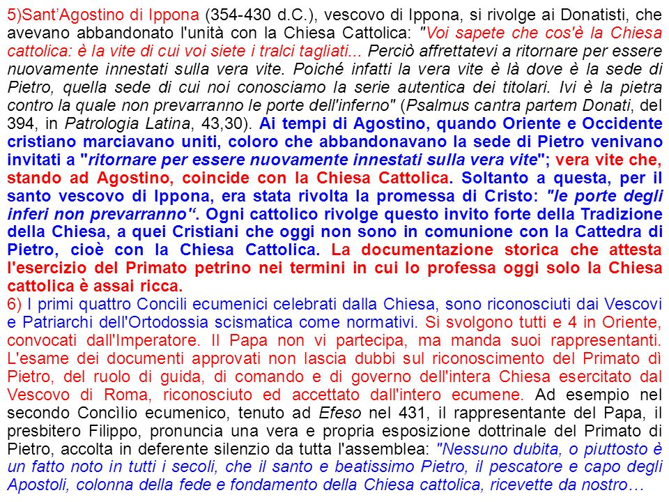 5)Sant'Agostino di Ippona (354-430 d. C