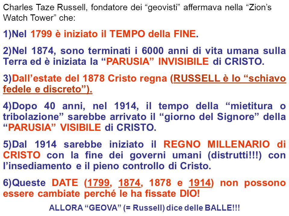 ALLORA GEOVA (= Russell) dice delle BALLE!!!