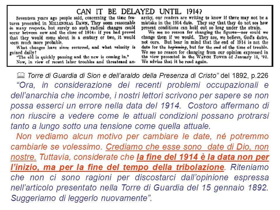 & Torre di Guardia di Sion e dell'araldo della Presenza di Cristo del 1892, p.226