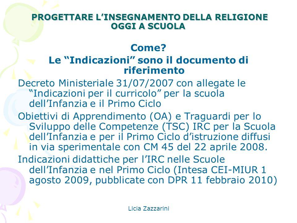 PROGETTARE L'INSEGNAMENTO DELLA RELIGIONE OGGI A SCUOLA