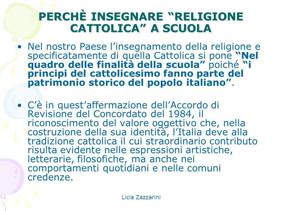 PERCHÈ INSEGNARE RELIGIONE CATTOLICA A SCUOLA