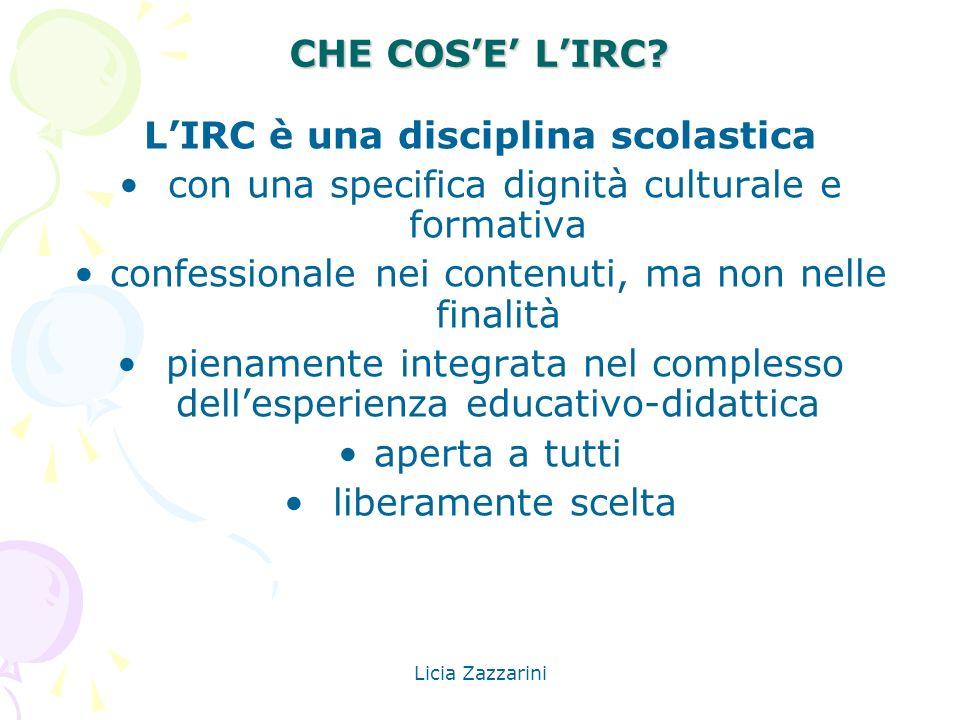 L'IRC è una disciplina scolastica