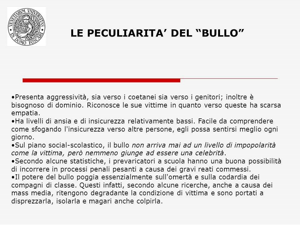 LE PECULIARITA' DEL BULLO