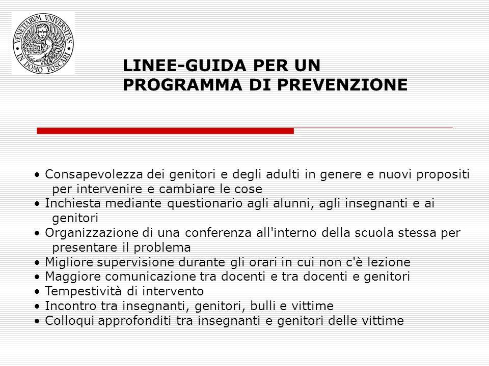 LINEE-GUIDA PER UN PROGRAMMA DI PREVENZIONE