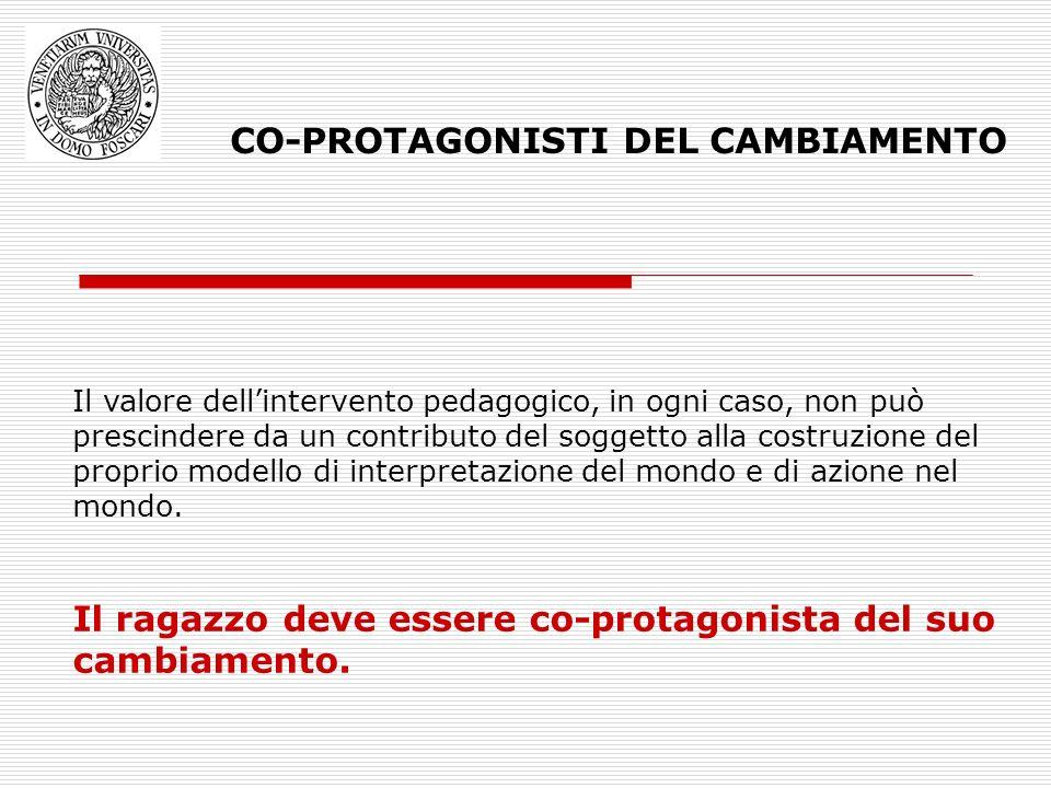CO-PROTAGONISTI DEL CAMBIAMENTO
