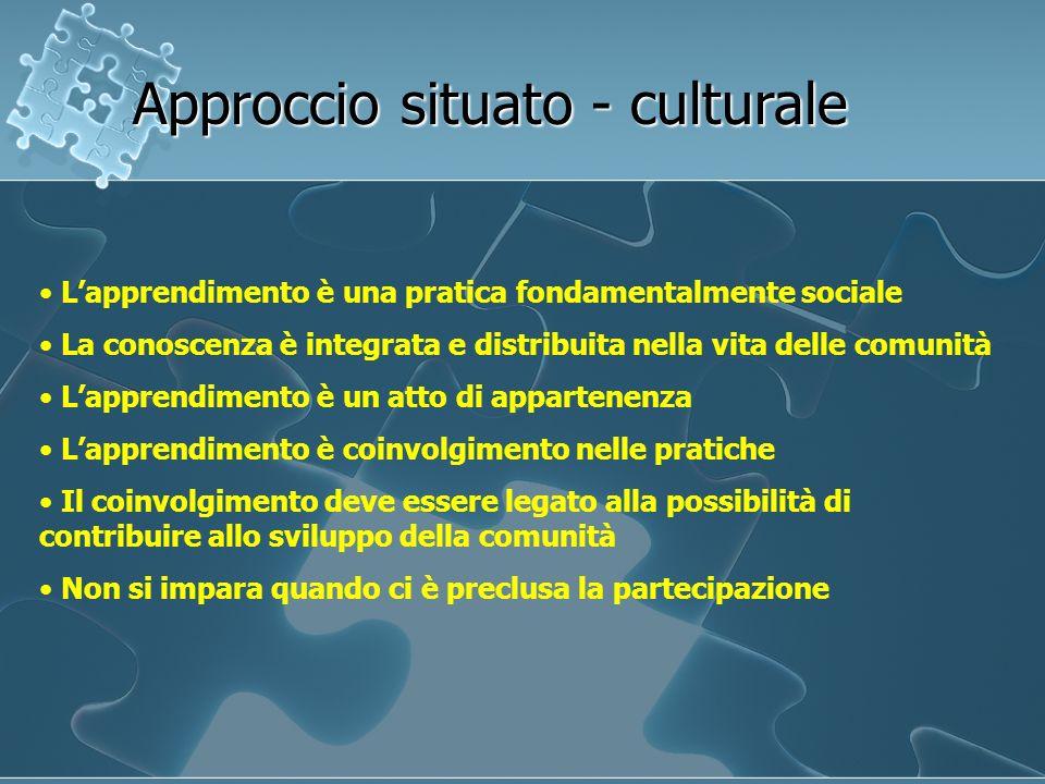 Approccio situato - culturale