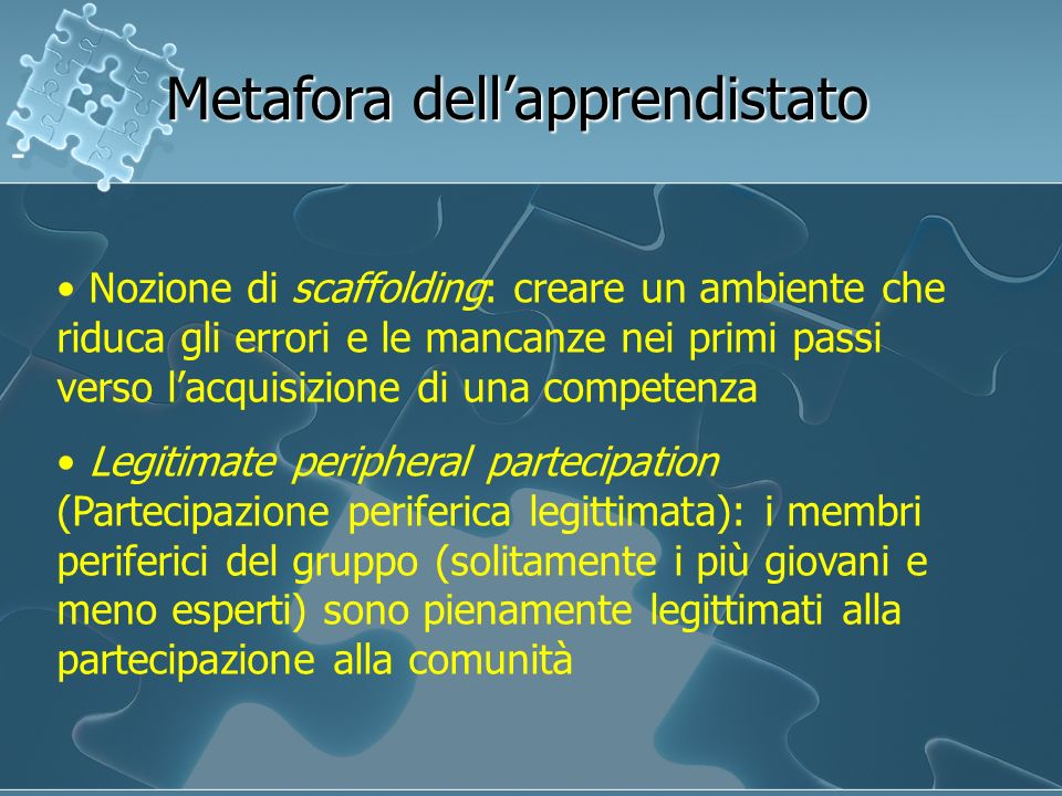 Metafora dell'apprendistato