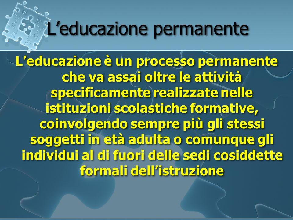 L'educazione permanente