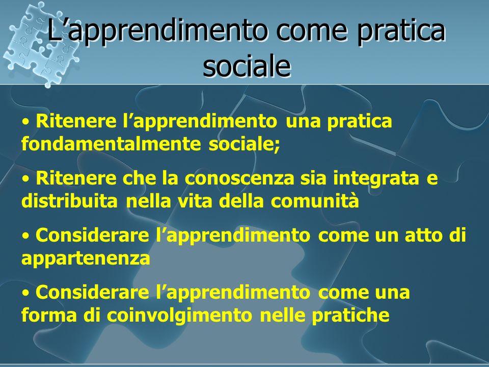 L'apprendimento come pratica sociale