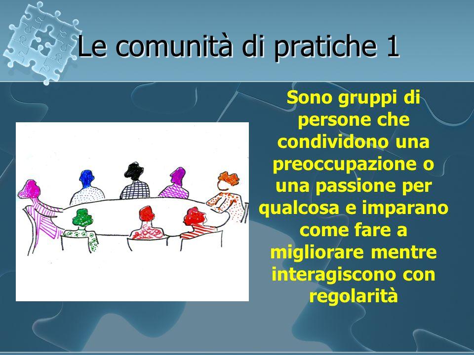 Le comunità di pratiche 1