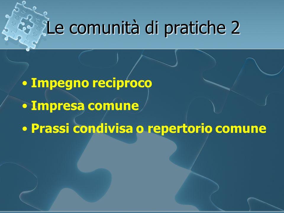 Le comunità di pratiche 2