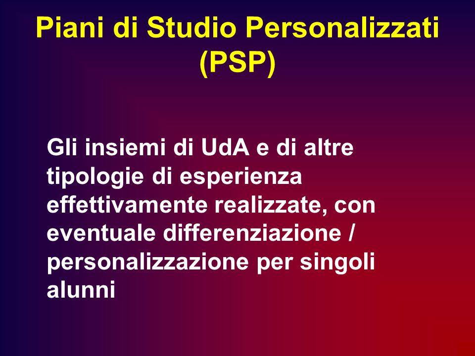 Piani di Studio Personalizzati (PSP)