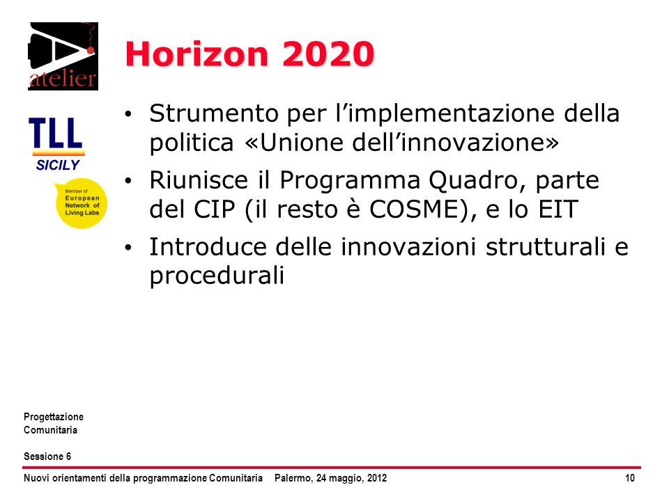 Horizon 2020 Strumento per l'implementazione della politica «Unione dell'innovazione»