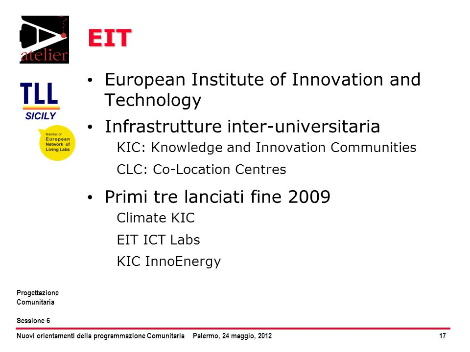 EIT European Institute of Innovation and Technology