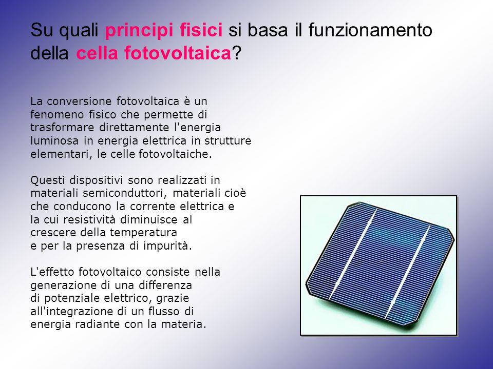 Su quali principi fisici si basa il funzionamento della cella fotovoltaica