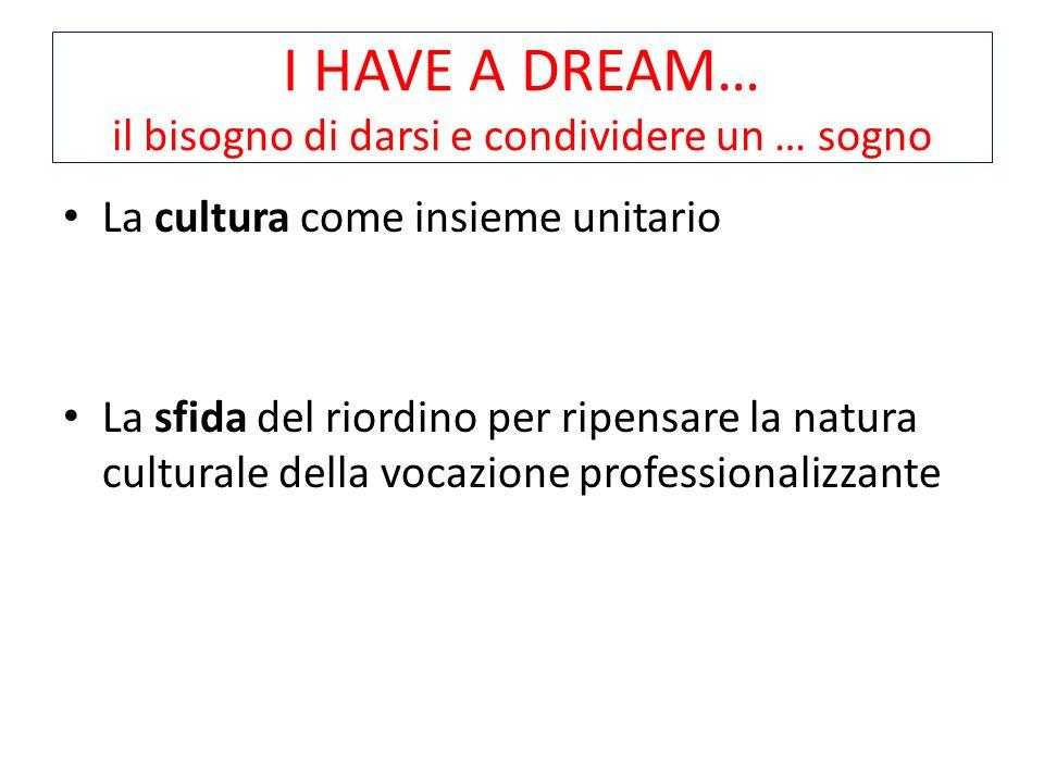 I HAVE A DREAM… il bisogno di darsi e condividere un … sogno