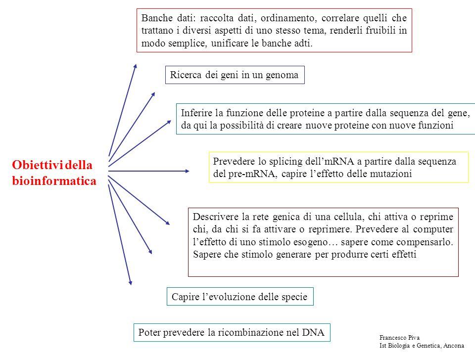 Obiettivi della bioinformatica