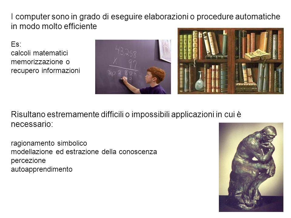 I computer sono in grado di eseguire elaborazioni o procedure automatiche in modo molto efficiente