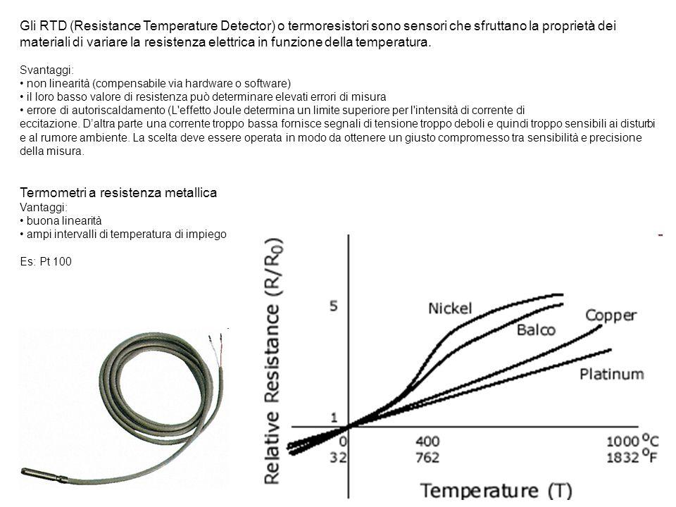 Termometri a resistenza metallica