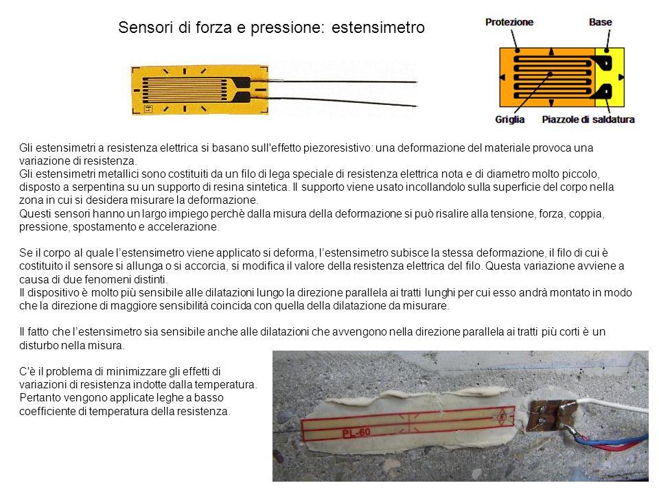 Sensori di forza e pressione: estensimetro