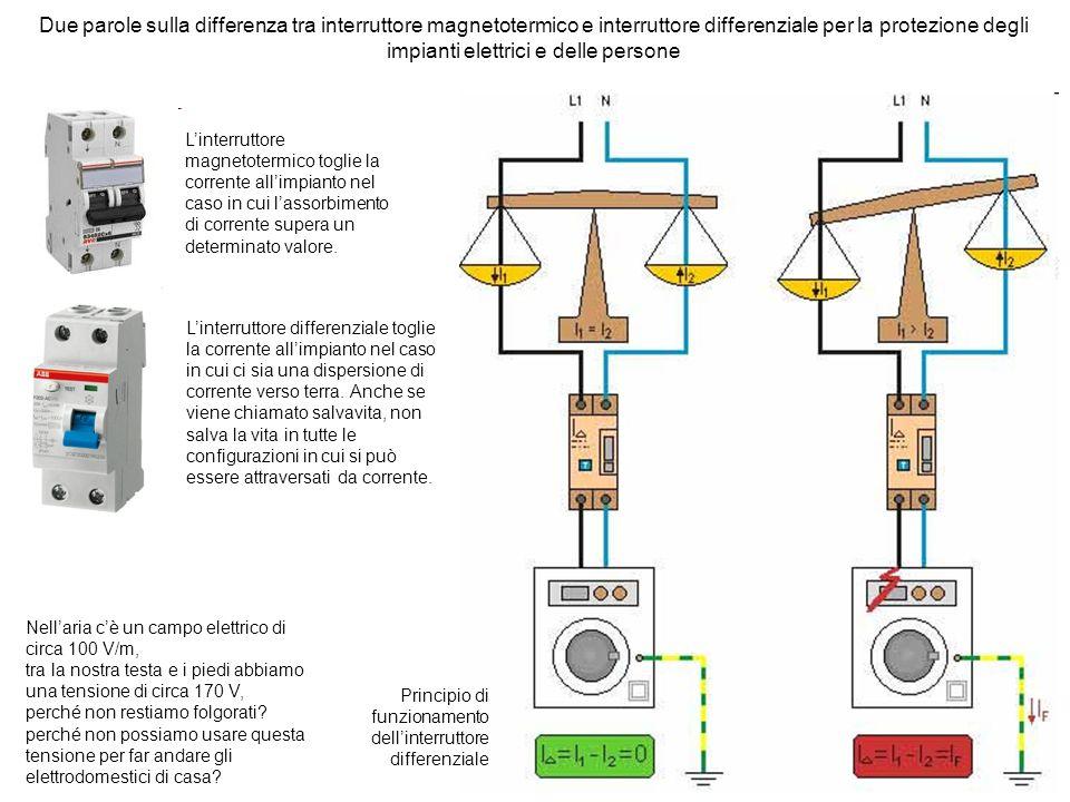 Due parole sulla differenza tra interruttore magnetotermico e interruttore differenziale per la protezione degli impianti elettrici e delle persone