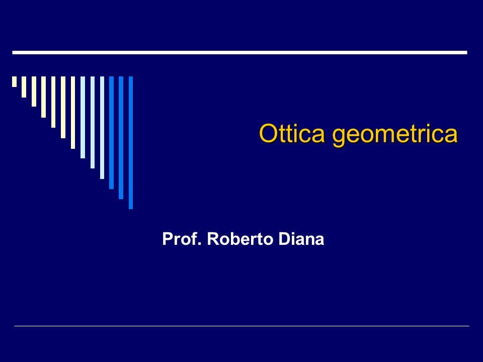 Ottica geometrica Prof. Roberto Diana