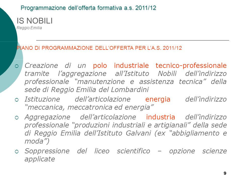 IS NOBILI Reggio Emilia