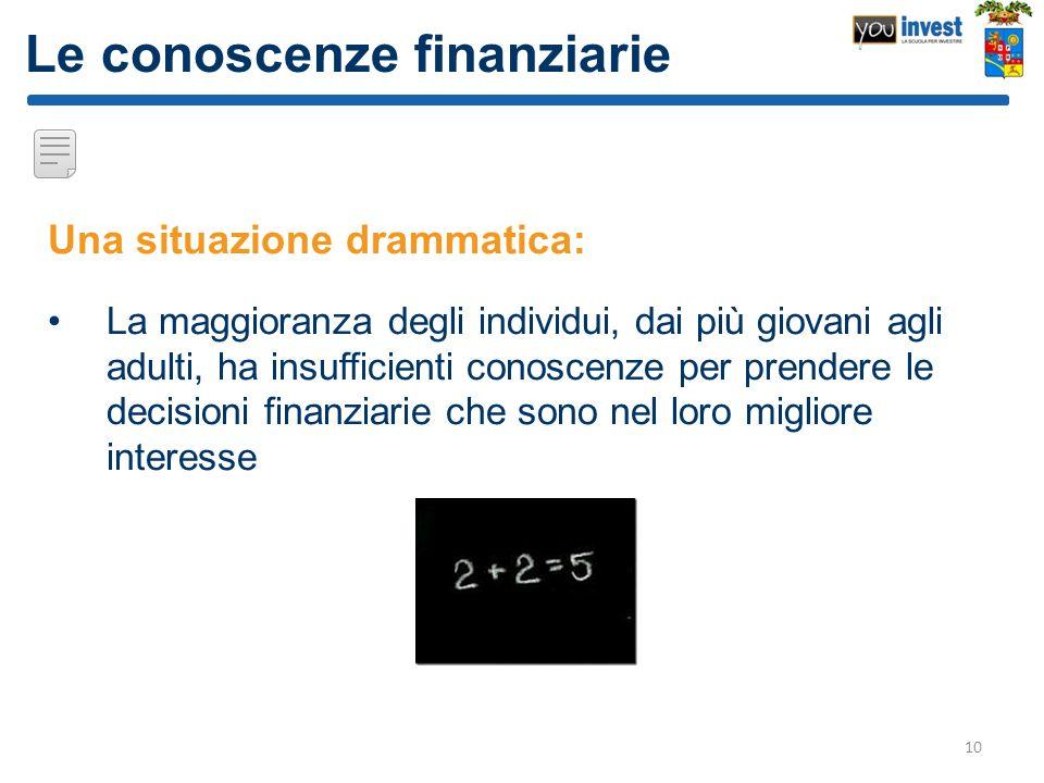 Le conoscenze finanziarie