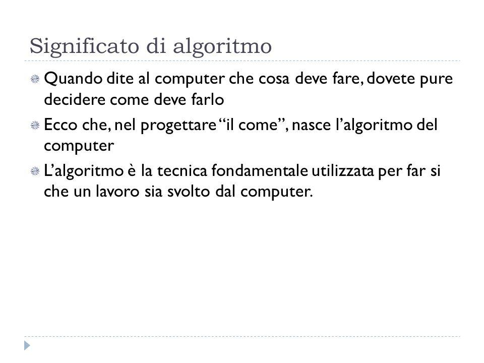 Significato di algoritmo