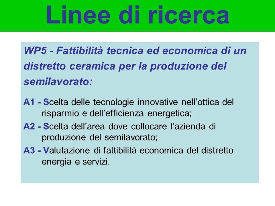 WP5 - Fattibilità tecnica ed economica di un