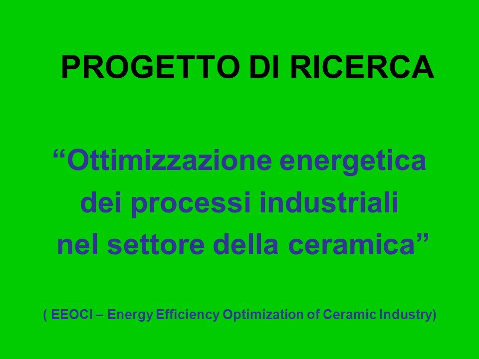 PROGETTO DI RICERCA Ottimizzazione energetica