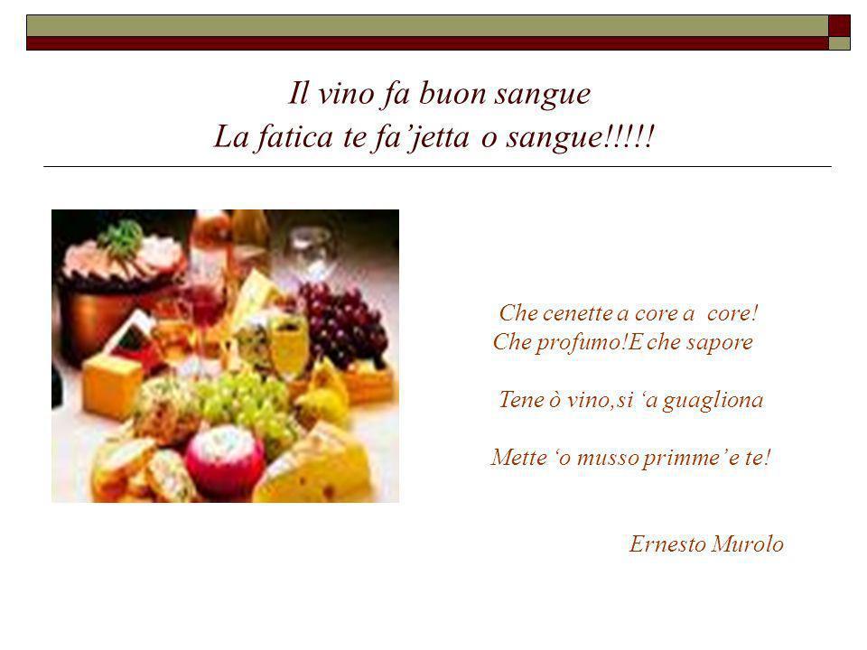 Il vino fa buon sangue La fatica te fa'jetta o sangue!!!!!